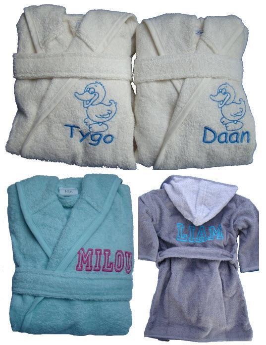 badjas met naam baby